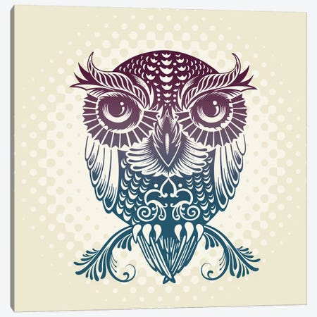 Baby Egypt Owl Canvas Print #RCA12} by Rachel Caldwell Canvas Art Print