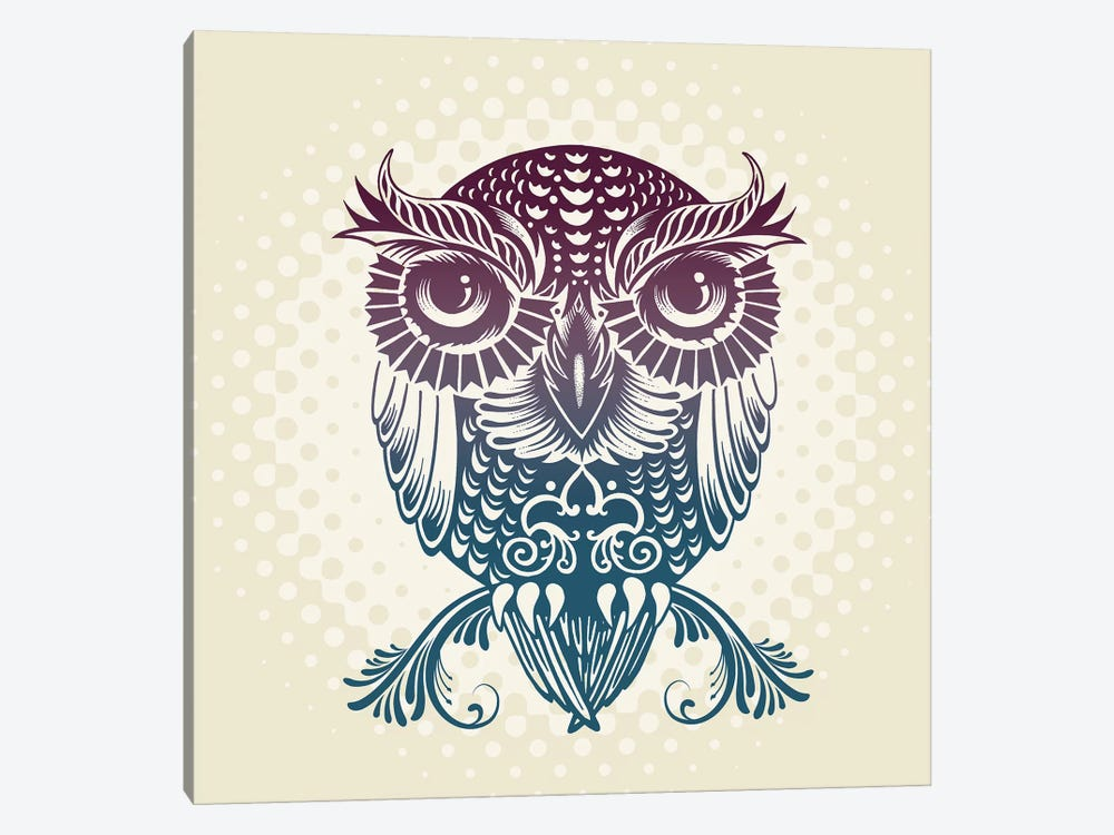 Baby Egypt Owl 1-piece Canvas Print