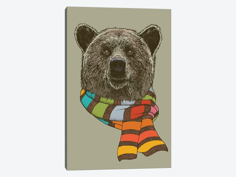 Bear Scarf by Rachel Caldwell 1-piece Canvas Artwork