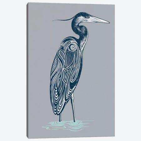 Blue Heron Canvas Print #RCA14} by Rachel Caldwell Canvas Art