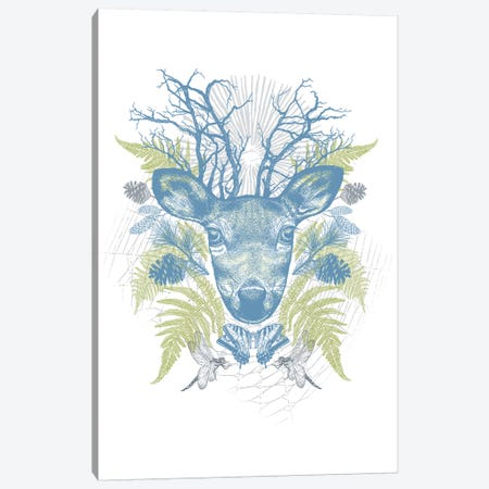Deer Adventure Canvas Print #RCA15} by Rachel Caldwell Canvas Art