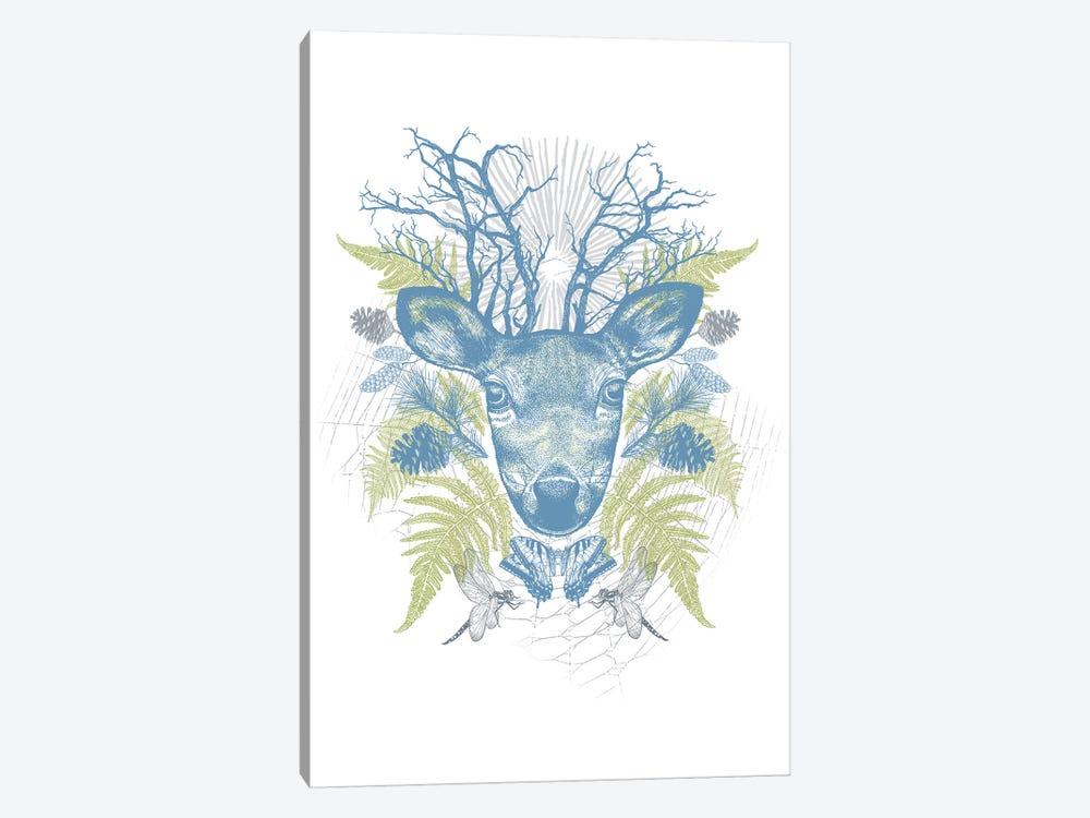 Deer Adventure by Rachel Caldwell 1-piece Canvas Artwork