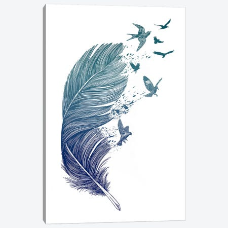 Fly Away Canvas Print #RCA1} by Rachel Caldwell Canvas Print