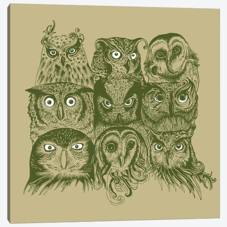 Nine Owls Canvas Print #RCA26} by Rachel Caldwell Canvas Art Print