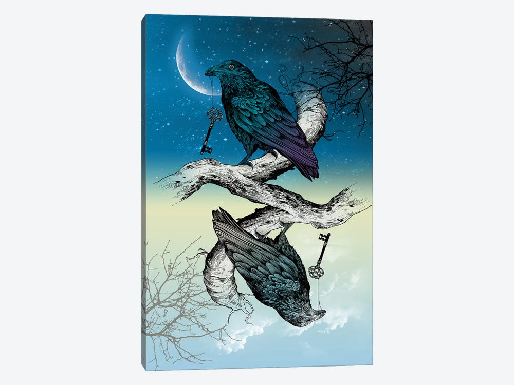 Raven Night And Day by Rachel Caldwell 1-piece Canvas Art
