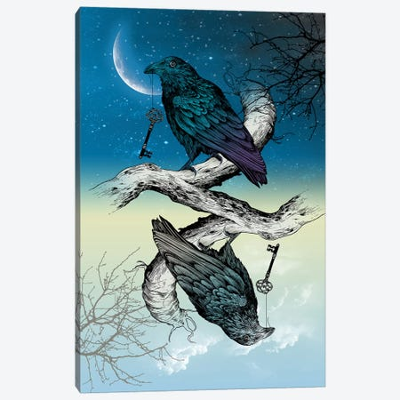 Raven Night And Day 3-Piece Canvas #RCA28} by Rachel Caldwell Canvas Artwork