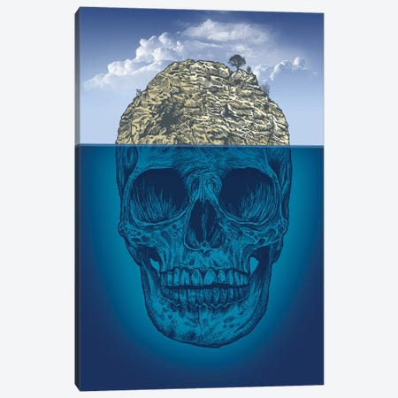 Skull Island 3-Piece Canvas #RCA29} by Rachel Caldwell Canvas Artwork