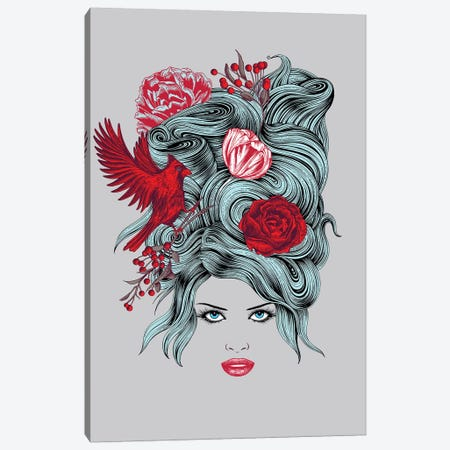 Winter Queen Canvas Print #RCA33} by Rachel Caldwell Art Print