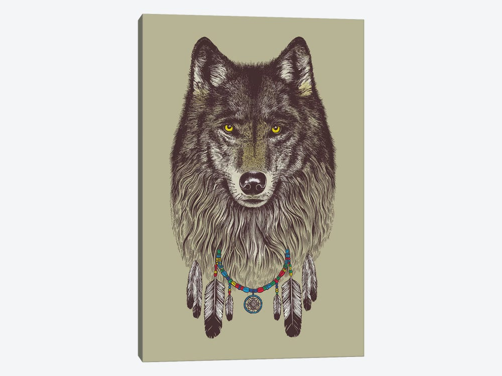 Wolf Dreams by Rachel Caldwell 1-piece Canvas Art Print