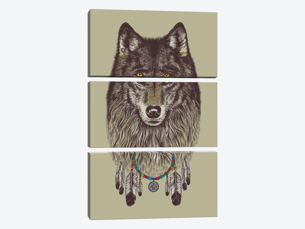 Wolf Dreams by Rachel Caldwell 3-piece Art Print