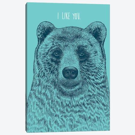 I Like You Bear Canvas Print #RCA4} by Rachel Caldwell Canvas Art