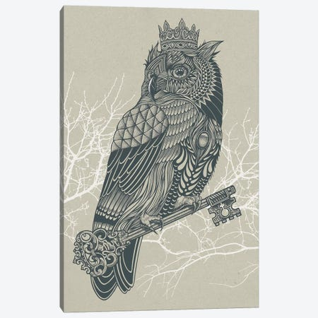 Owl King Canvas Print #RCA7} by Rachel Caldwell Canvas Artwork