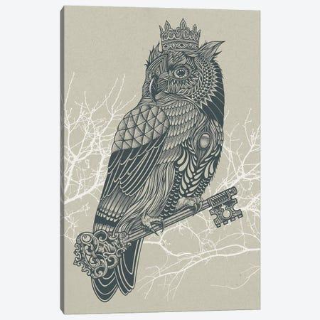 Owl King Canvas Print #RCA7} by Rachel Caldwell Canvas Artwork