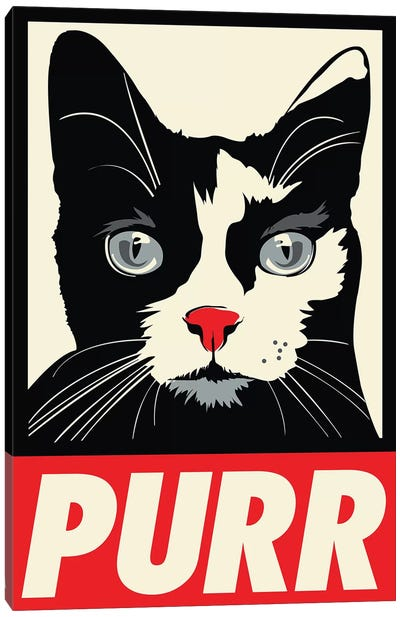 Purr-paganda Canvas Art Print