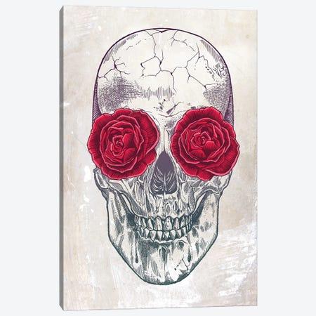 Skull & Roses 3-Piece Canvas #RCA9} by Rachel Caldwell Canvas Print