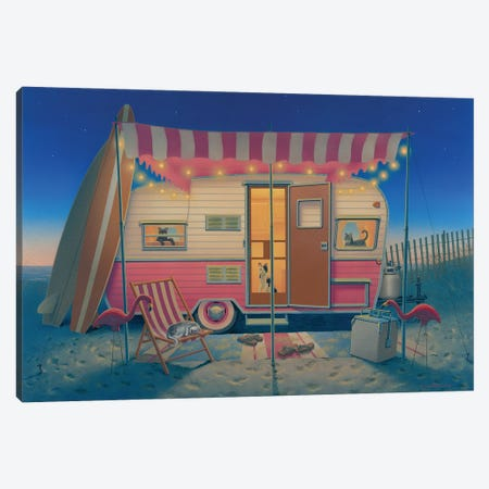 Happy Campers Canvas Print #RCC1} by Richard Courtney Canvas Art Print