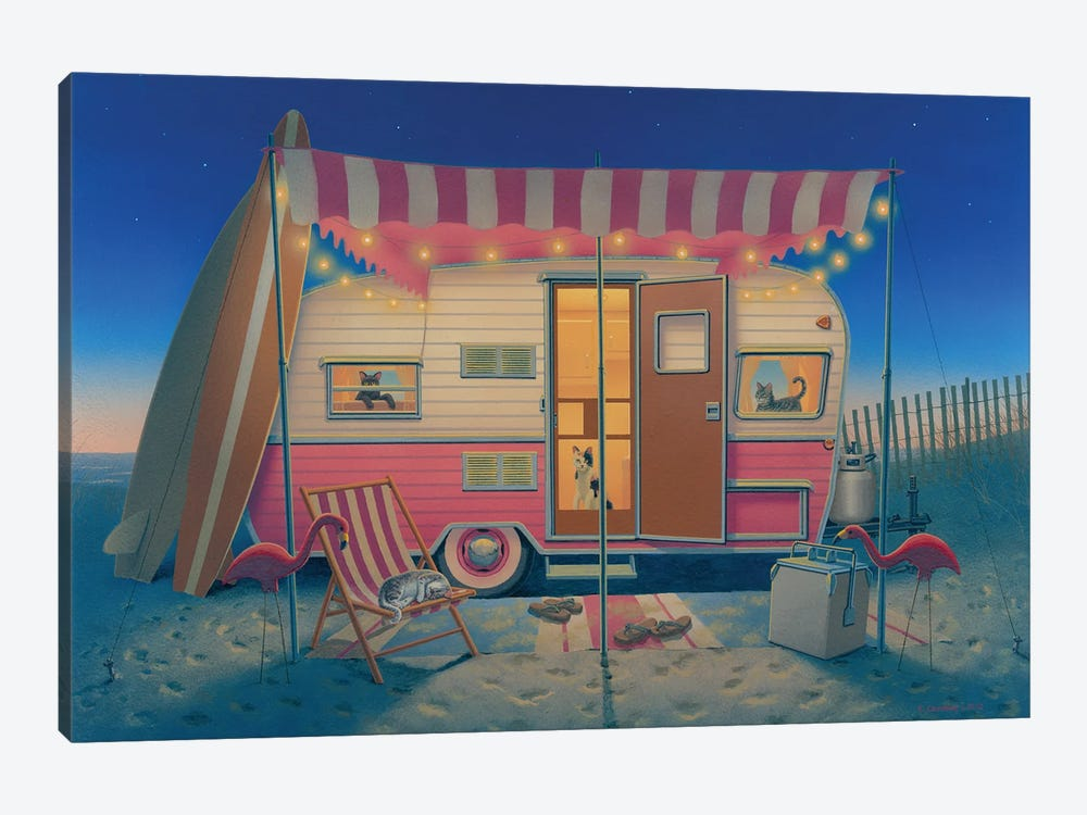 Happy Campers by Richard Courtney 1-piece Canvas Print