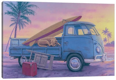 The Beach Boy Canvas Art Print