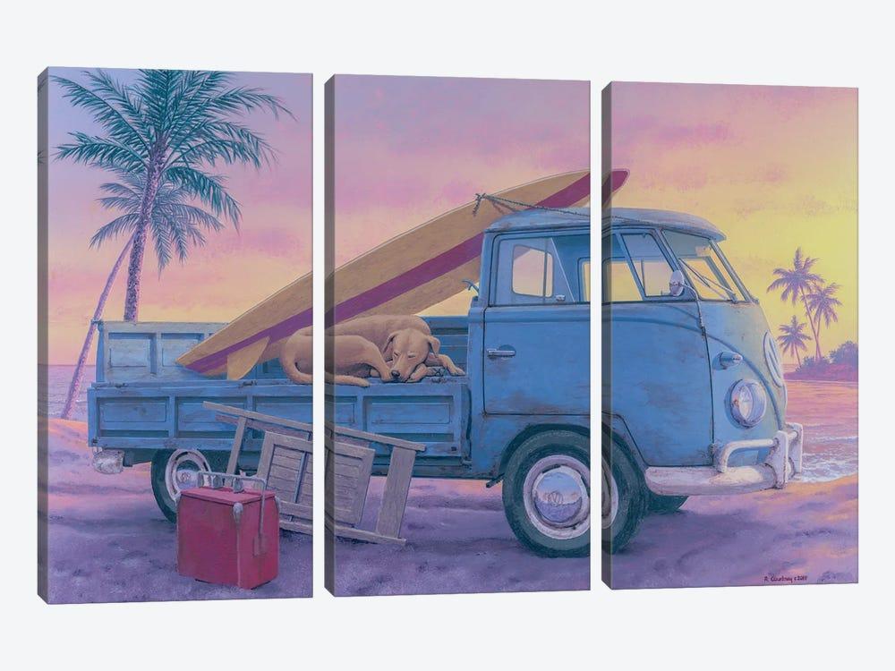 The Beach Boy by Richard Courtney 3-piece Canvas Artwork
