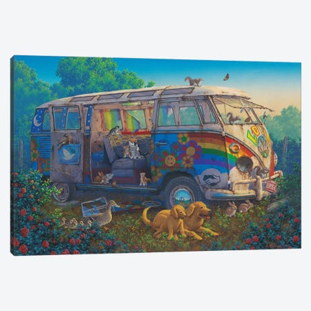 What A Wonderful World Canvas Print #RCC6} by Richard Courtney Canvas Art