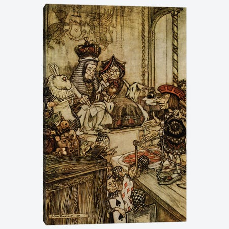 Who Stole The Tarts Canvas Print #RCK1} by Rackham Canvas Art Print