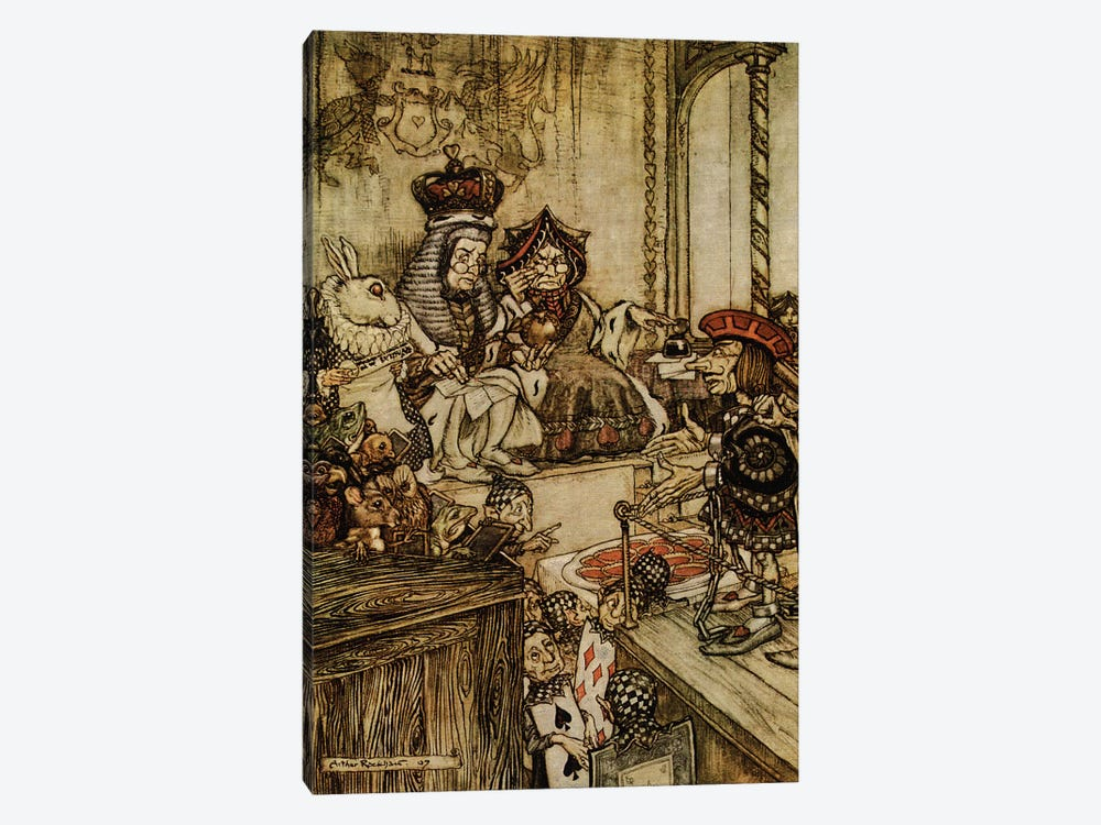 Who Stole The Tarts by Rackham 1-piece Canvas Print
