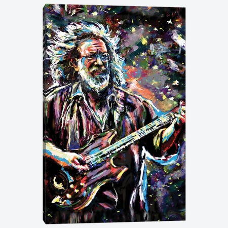 "Jerry Garcia - Grateful Dead ""Touch Of Grey"" Canvas Print #RCM100} by Rockchromatic Canvas Art Print"