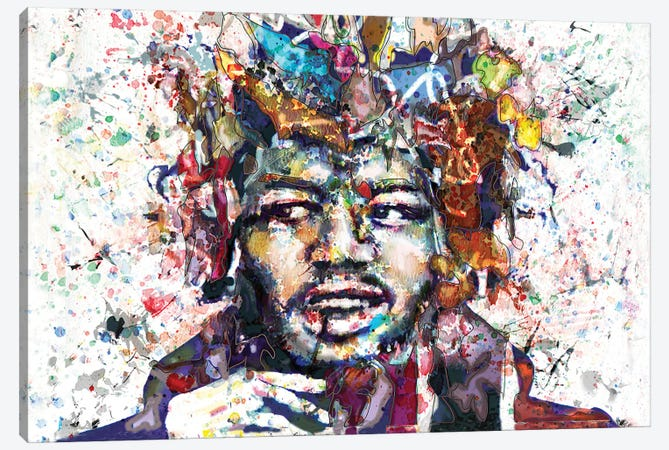 """Jimi Hendrix """"Are You Experienced"""" Canvas Print #RCM101} by Rockchromatic Canvas Print"""
