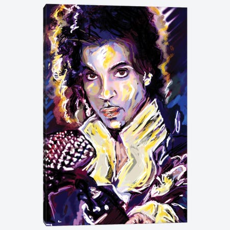 """Prince """"When Doves Cry"""" Canvas Print #RCM102} by Rockchromatic Canvas Print"""