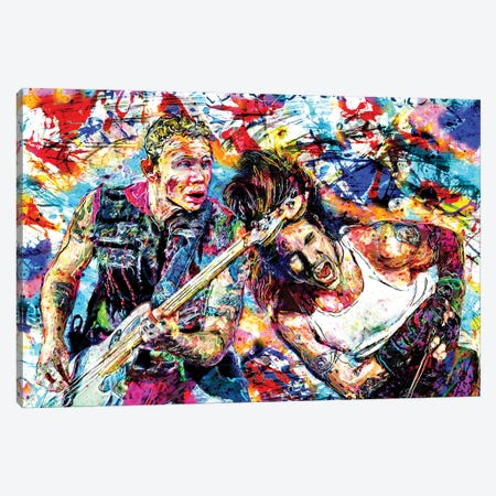 """Red Hot Chili Peppers """"Can't Stop Addicted To The Shindig!"""" Canvas Print #RCM103} by Rockchromatic Art Print"""