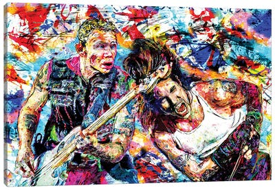 """Red Hot Chili Peppers """"Can't Stop Addicted To The Shindig!"""" Canvas Art Print"""