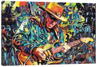 """Stevie Ray Vaughan """"She's My Pride And Joy"""" Canvas Art Print"""