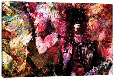 """Axl And Slash - Guns N Roses """"Appetite For Your Illusion"""" Canvas Art Print"""