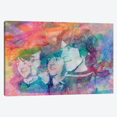 "The Beatles ""All You Need Is Love"" Canvas Print #RCM107} by Rockchromatic Canvas Artwork"
