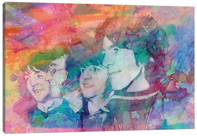 """The Beatles """"All You Need Is Love"""" Canvas Art Print"""