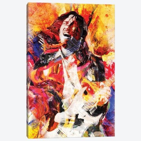 """John Frusciante - Red Hot Chili Peppers """"Can'T Stop, Addicted To The Shindig"""" Canvas Print #RCM109} by Rockchromatic Art Print"""