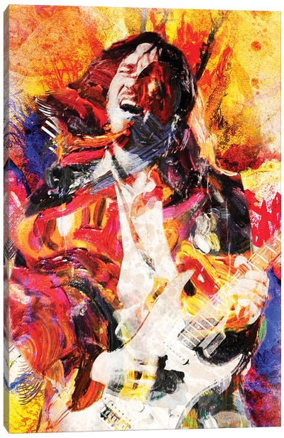 """John Frusciante - Red Hot Chili Peppers """"Can'T Stop, Addicted To The Shindig"""" Canvas Art Print"""