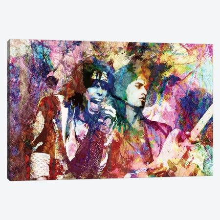 """Aerosmith - Steven Tyler & Joe Perry """"Walk This Way"""" Canvas Print #RCM112} by Rockchromatic Canvas Art"""