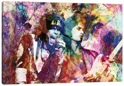"""Aerosmith - Steven Tyler & Joe Perry """"Walk This Way"""" Canvas Art Print"""