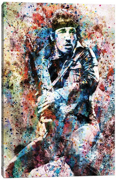 """Bruce Springsteen """"Streets Of Fire"""" Canvas Art Print"""
