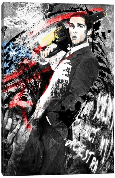"American Psycho - Patrick Bateman ""Reservations At Dorsia"" Canvas Art Print"
