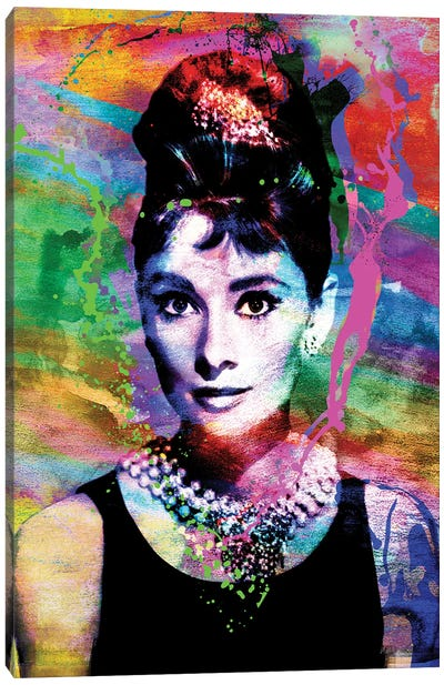 "Audrey Hepburn ""Breakfast At Tiffany'S"" Canvas Art Print"