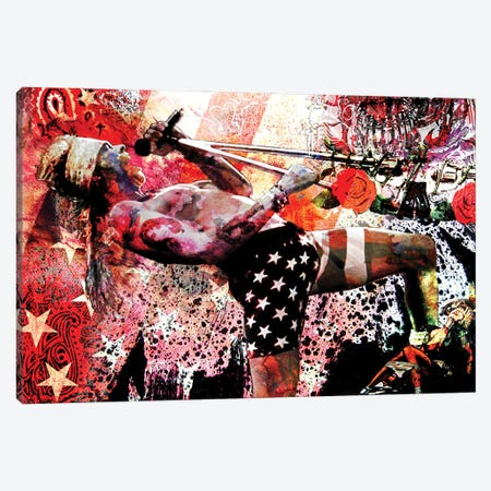"""Axl Rose - Guns N' Roses """"Welcome To The Jungle"""" Canvas Print #RCM119} by Rockchromatic Canvas Wall Art"""