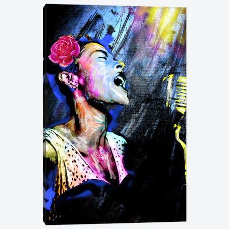"Billie Holiday ""Blue Moon"" Canvas Print #RCM120} by Rockchromatic Art Print"