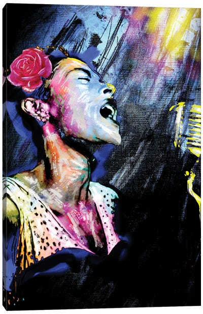 "Billie Holiday ""Blue Moon"" Canvas Art Print"
