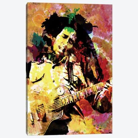 "Bob Marley ""Songs Of Freedom"" Canvas Print #RCM121} by Rockchromatic Art Print"