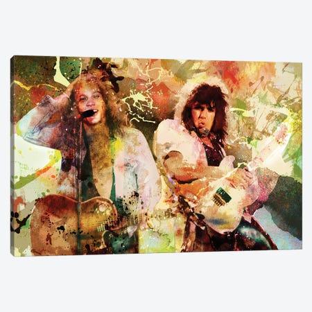 "Bon Jovi ""Wanted Dead Or Alive"" Canvas Print #RCM124} by Rockchromatic Canvas Art"