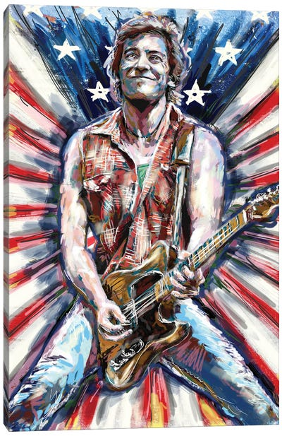 "Bruce Springsteen ""Born In The Usa"" Canvas Art Print"