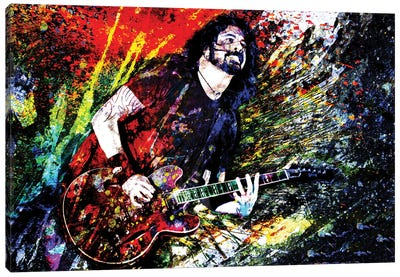 """Dave Grohl - Nirvana, Foo Fighters """"Everlong"""" Canvas Art Print"""
