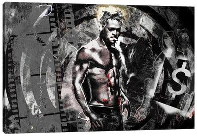 """Fight Club - Brad Pitt """"First Rule Of Fight Club"""" Canvas Art Print"""